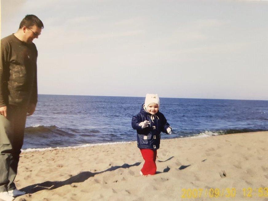 Ramunė-Barbora su Tėčiu Rimu