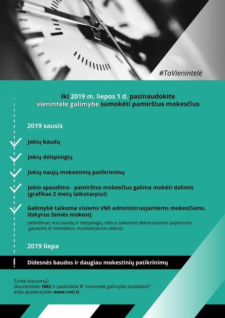 VMI pristatė naujovę: mokesčių amnestiją
