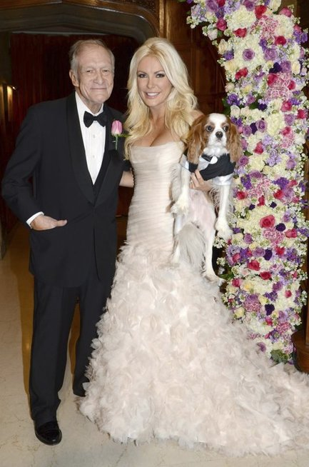 Crystal Harris ir Hugh Hefner