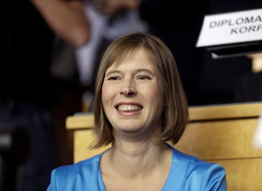 Estija išsirinko prezidentę – finansų ekspertę Kersti Kaljulaid (nuotr. SCANPIX)