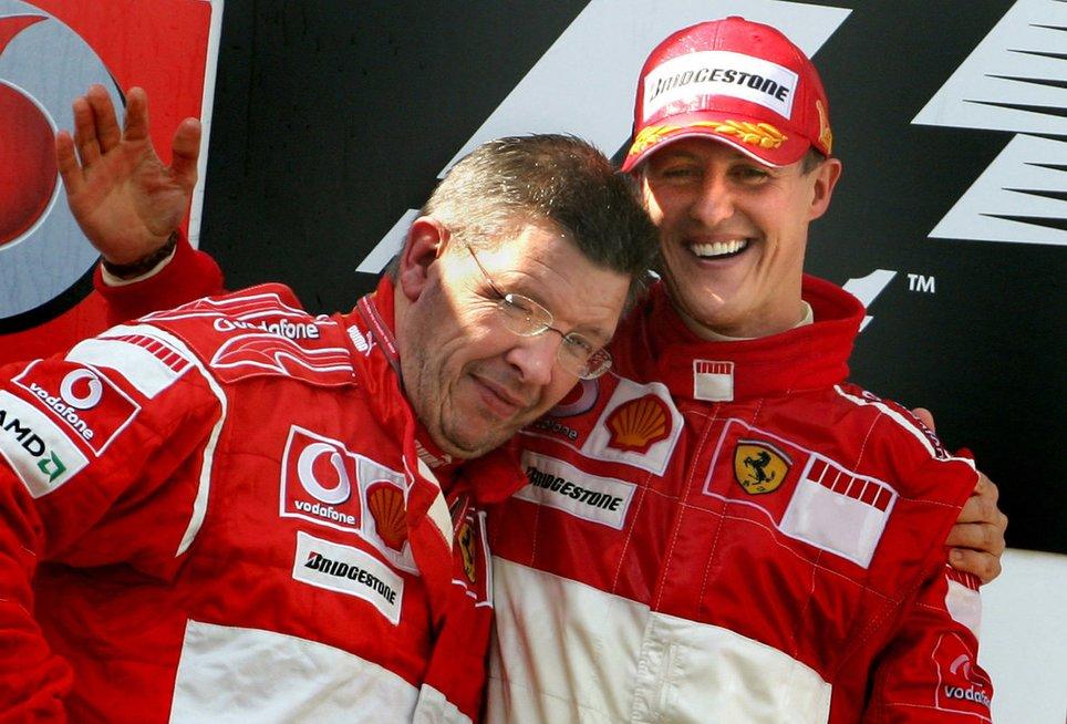 Rossas Brawnas ir Michaelis Schumacheris (nuotr. SCANPIX)