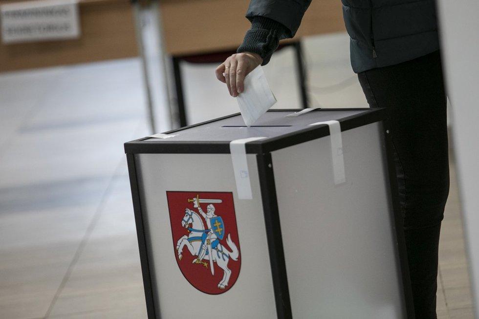 Lietuviai balsuoja antrame Seimo rinkimų ture