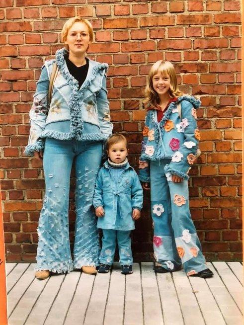 Justina Stambrauskaitė su šeima
