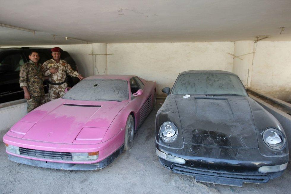Udajui Huseinui priklausę automobiliai
