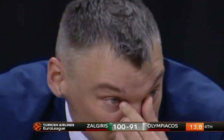 Šarūno Jasikevičiaus ašaros.