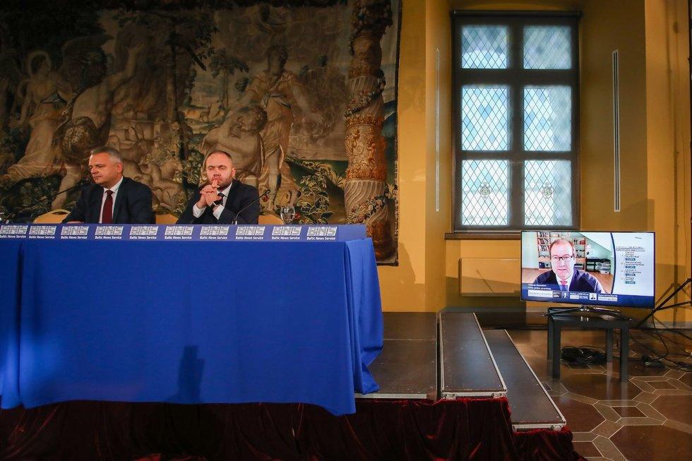 Darbo partijos spaudos konferencija po rinkimų