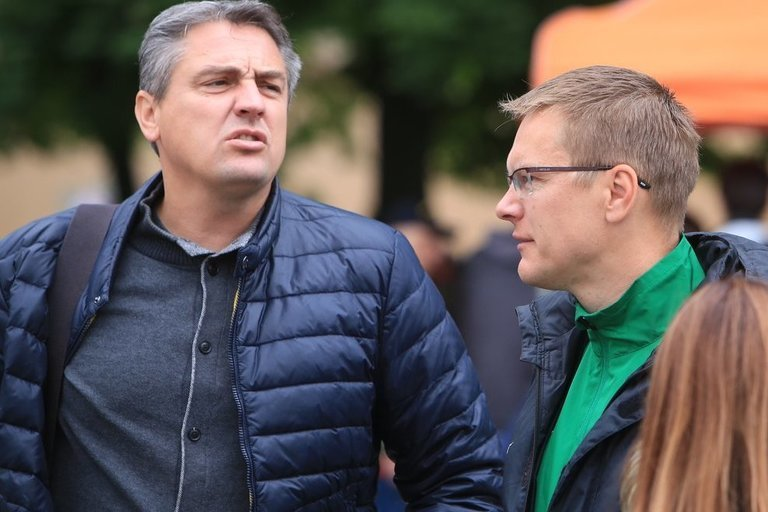 Žydrūnas Grudzinskas (kairėje).