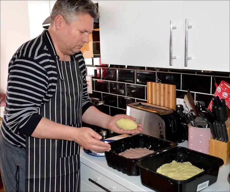 Virtų bulvių cepelinai pagal Rimą