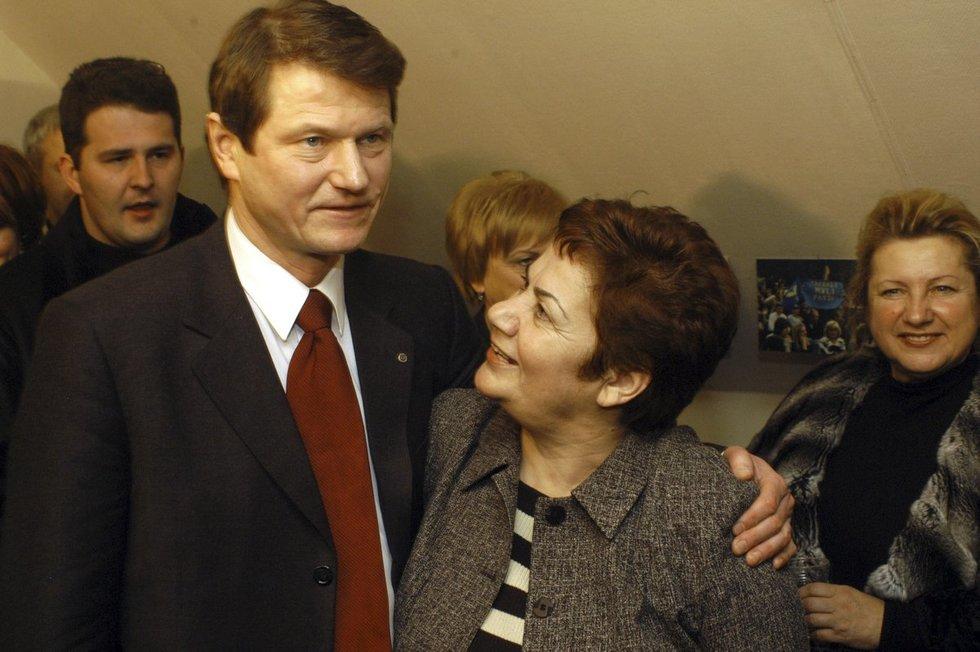 Rolandas Paksas ir Lena Lolišvili (Fotobankas)