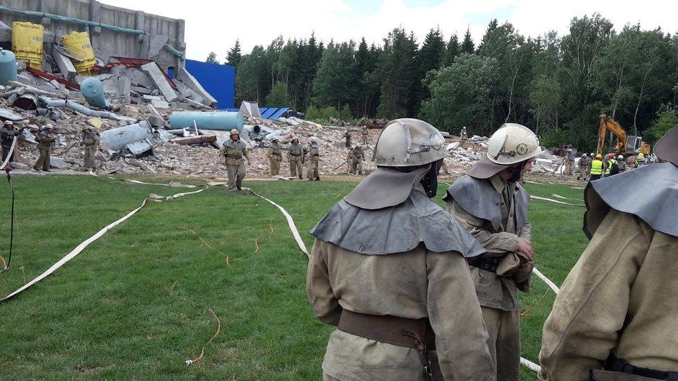 Ugniagesys gaisrą Alytuje palygino su Černobyliu: vaizdai gniaužia kvapą