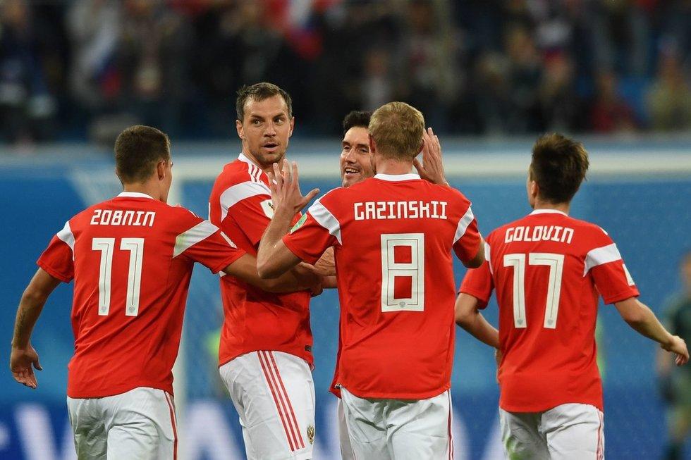 Rusijos futbolo rinktinė (nuotr. SCANPIX)