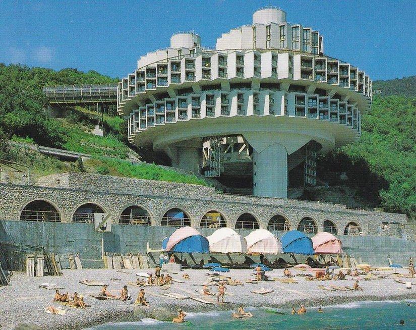 Poilsio namai 'Družba' Jaltoje (Wikimedia.org nuotr.)