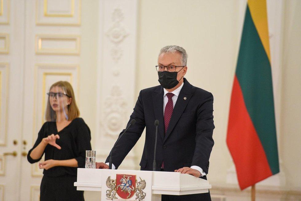 Prezidento Gitano Nausėdos spaudos konferencija