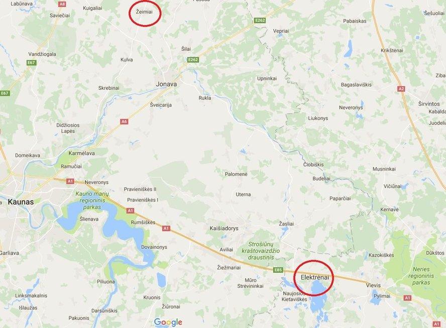 Gausios pareigūnų pajėgos ieško dingusios be žinios merginos (Google maps nuotr.)