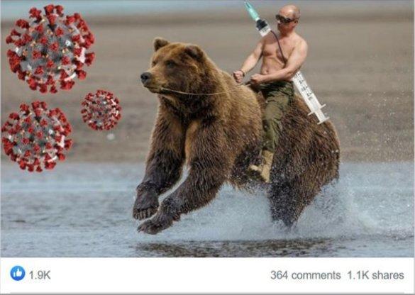 Rusai nepamiršo pasijuokti ir iš V. Putino