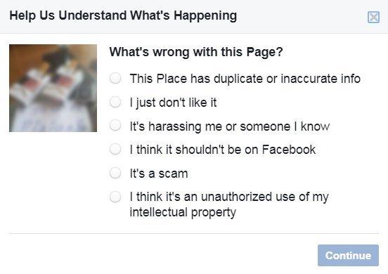 Puslapio užblokavimas (Facebook.com)