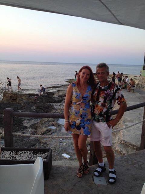 Jolita su vyru Švedijoje (nuotr. asm. archyvo)