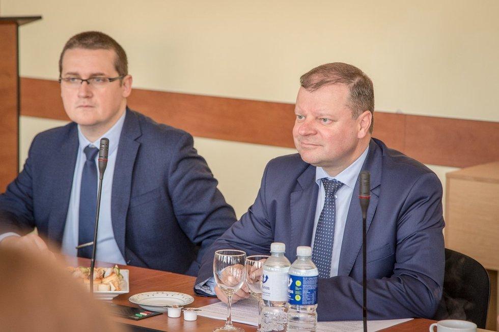 S. Malinauskas ir S. Skvernelis (nuotr. LRVK | Darius Janutis)