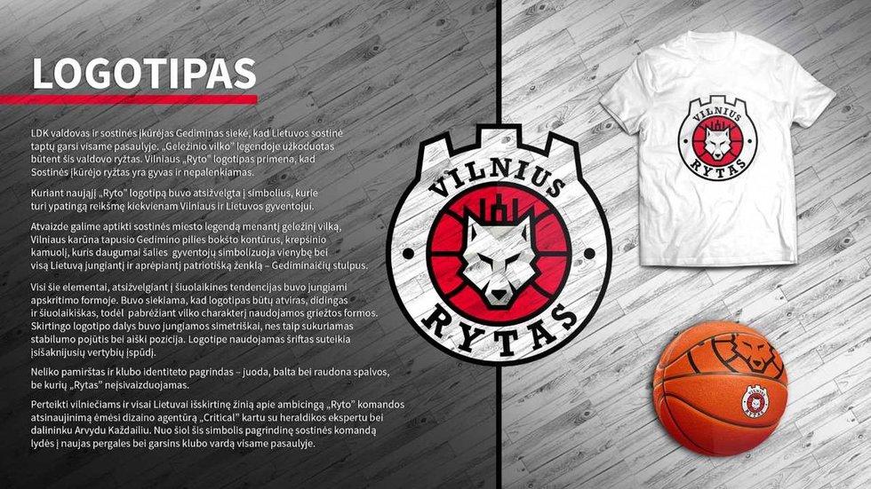 """Naujas Vilniaus """"Ryto"""" logotipas (nuotr. Organizatorių)"""