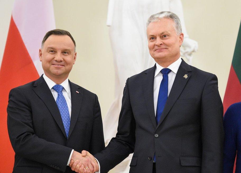 Lenkijos prezidentas Andrzejus Duda susitiko su Gitanu Nausėda