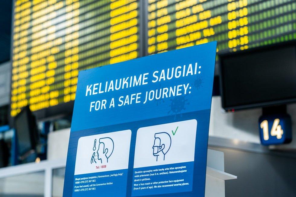 Saugumo priemonės Vilniaus oro uoste (nuotr. organizatorių)