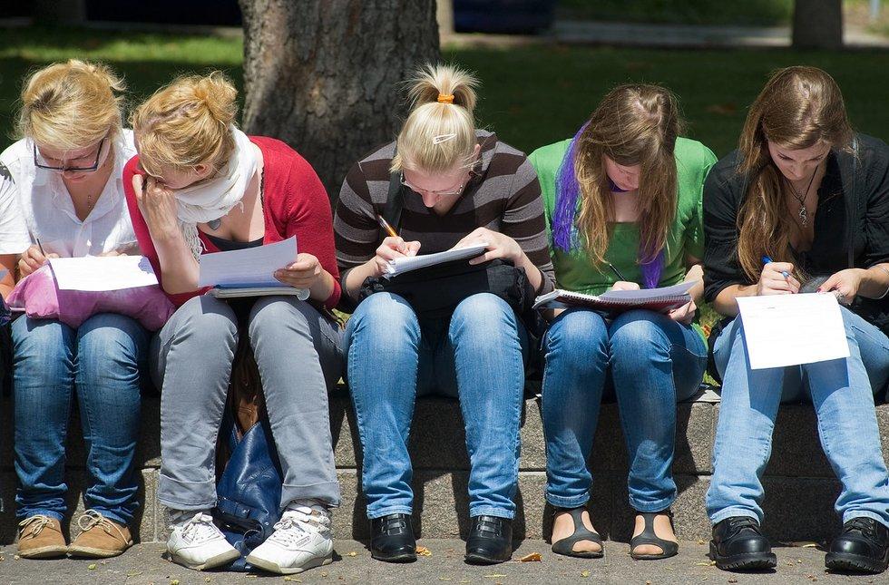 Studentai (nuotr. Fotodiena.lt/Audriaus Bagdono)