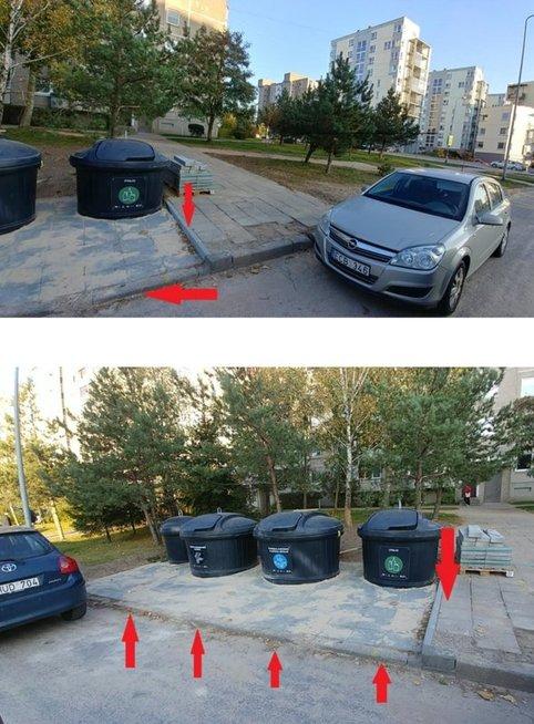 Kai kurios naujos atliekų aikštelės neįveikiamos judantiems neįgaliojo vežimėliu. Lietuvos žmonių su negalia sąjungos archyvo nuotr.