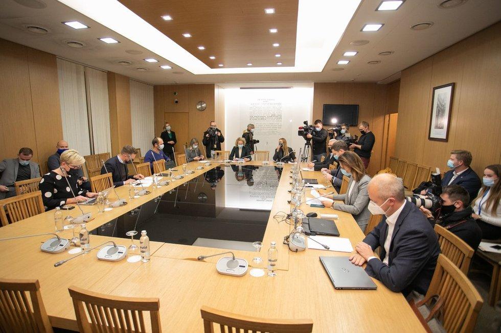 Derybos dėl koalicijos Seime (nuotr. Fotodiena/Justinas Auškelis)
