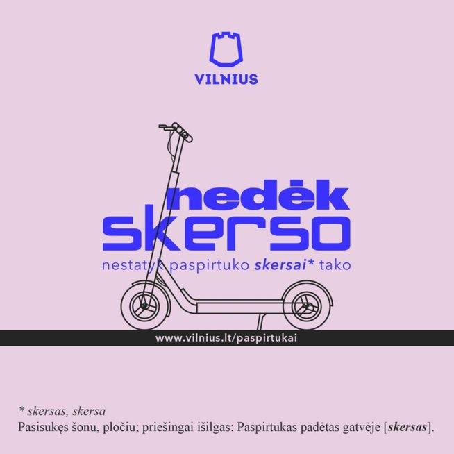 """Vilniaus miesto savivaldybė skelbia akciją """"Nedėk skerso"""" (nuotr. Vilniaus miesto savivaldybės)"""