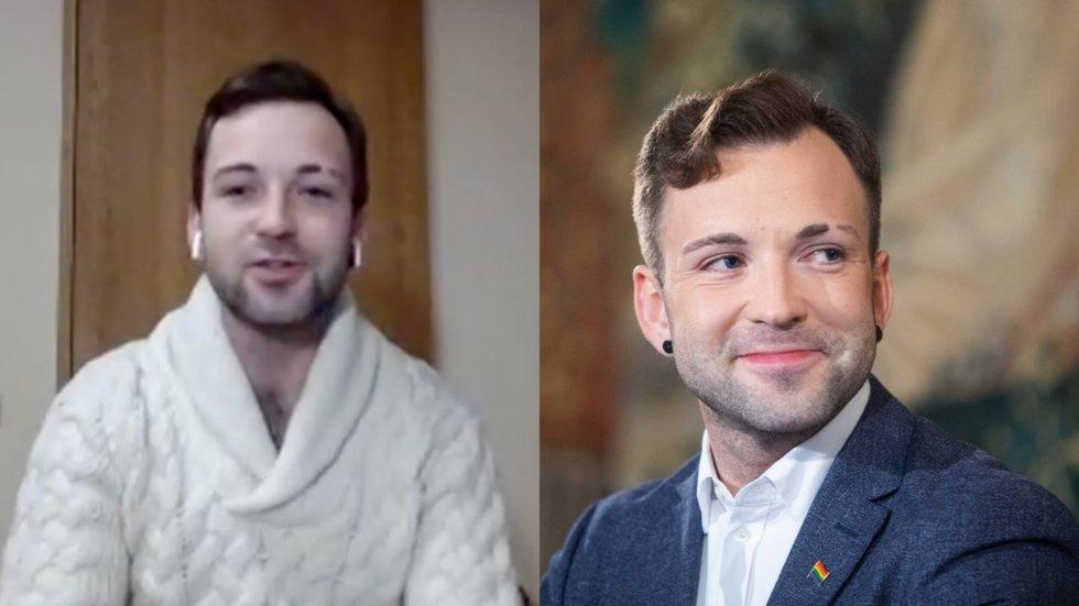 T. V. Raskevičiaus šukuosenos pokyčiai
