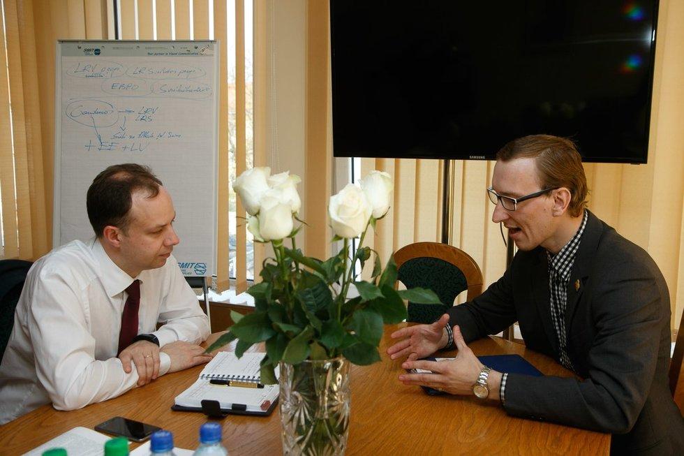 Sveikatos ministro A. Verygos susitikimas su Mindaugu Jonušu  (nuotr. Tv3.lt/Ruslano Kondratjevo)
