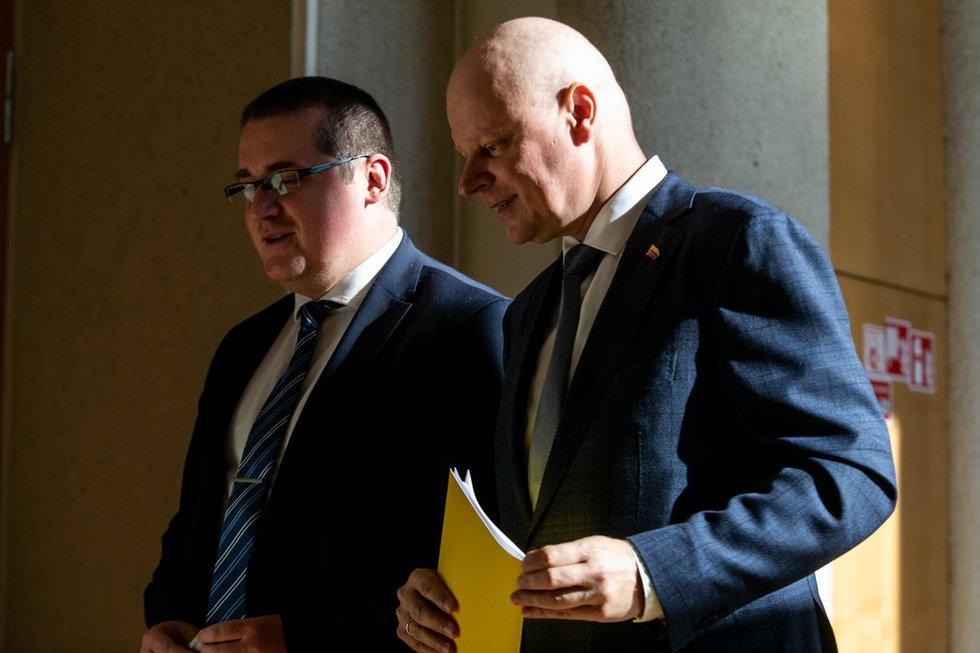 Skirmantas Malinauskas ir Saulius Skvernelis