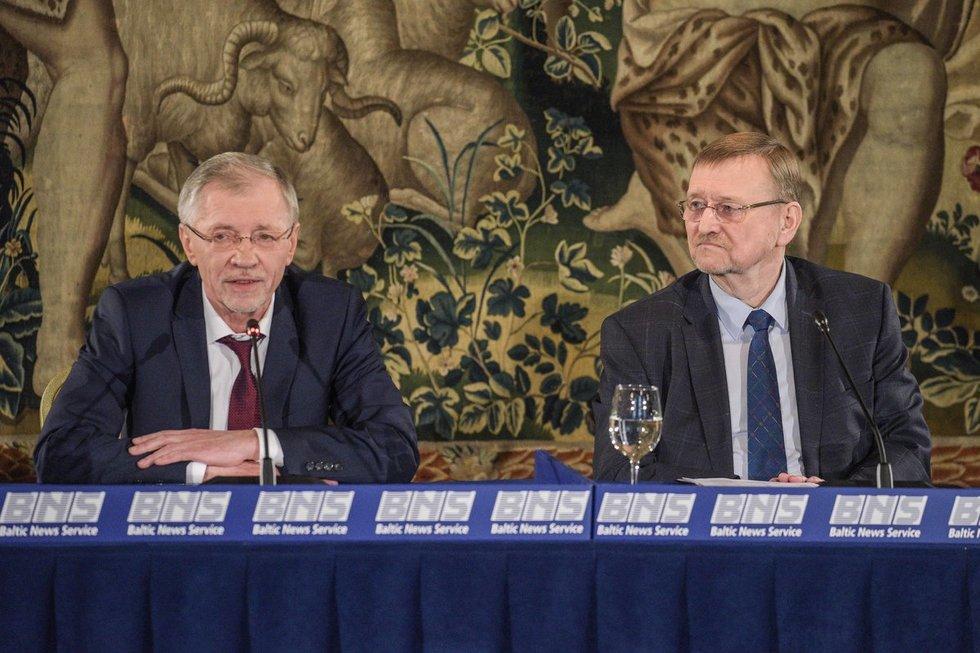 Gediminas Kirkilas ir Juozas Bernatonis (Fotodiena/Arnas Strumila)