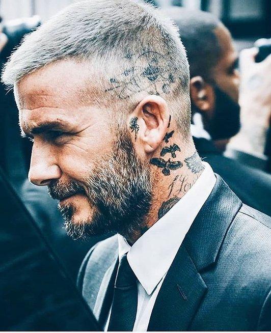 D. Beckhamo tatuiruotė (nuotr. Twitter)