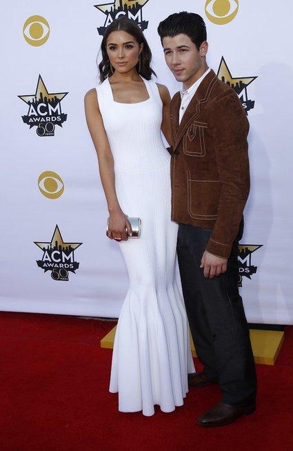 Nickas Jonas ir Olivia Culpo (nuotr. Vida Press)