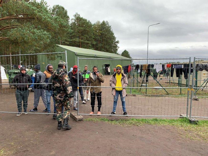Druskininkų pasienio užkarda, migrantų stovykla
