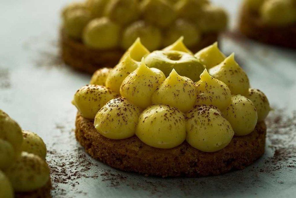"""Bretoniški sausainiai su """"Mousseline"""" kremu"""