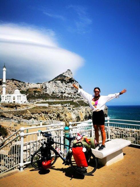 Gibraltaro sąsiaurį Monika pasiekė rugsėjo 5-ąją. Monikos Overlingytės asmeninio albumo nuotrauka