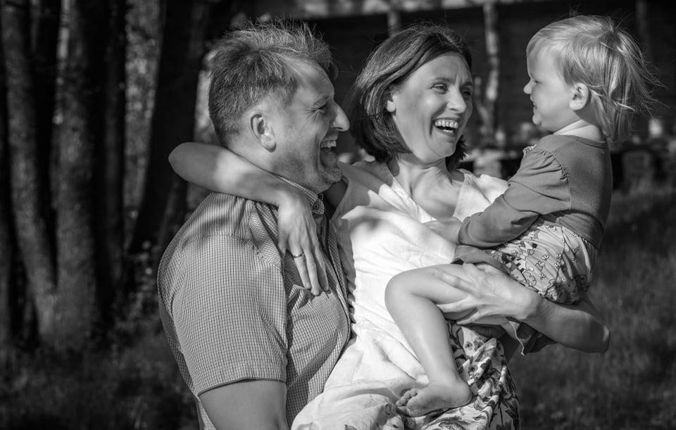 Žilvinas Žitkus su žmona Ramune ir dukrele Mila