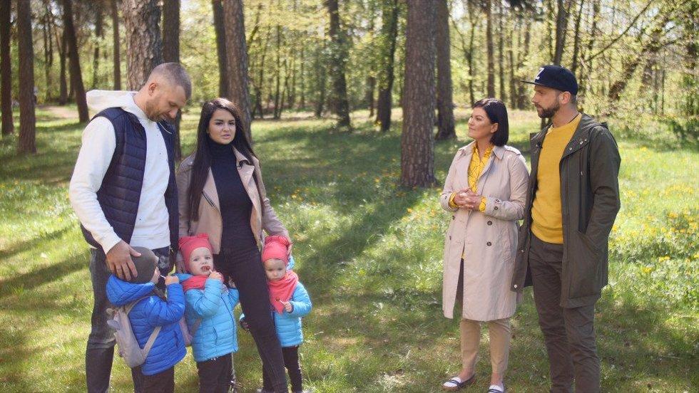 Simona Lipnė su šeima