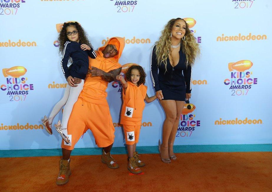Nick Cannon ir Mariah Carey su vaikais