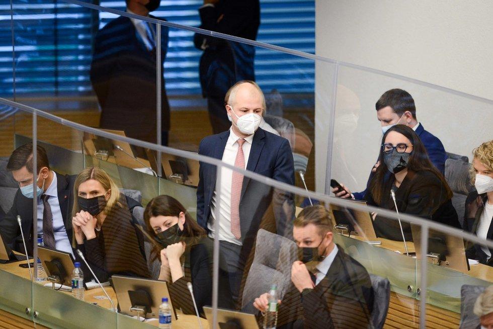 Seimas tvirtina Vyriausybės programą