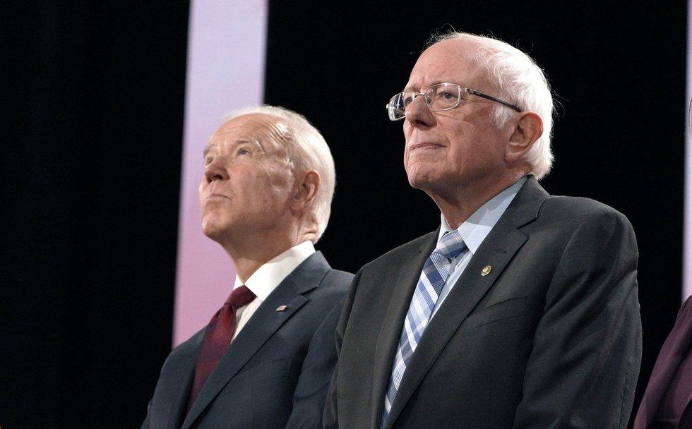 Joe Bidenas ir Bernie'is Sandersas
