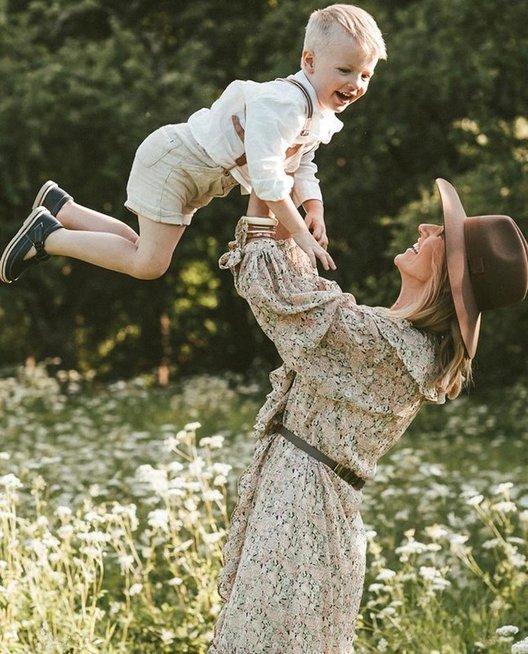 K. Zvonkuvienė su sūnumi Donatu (nuotr. Dobiliuko foto)