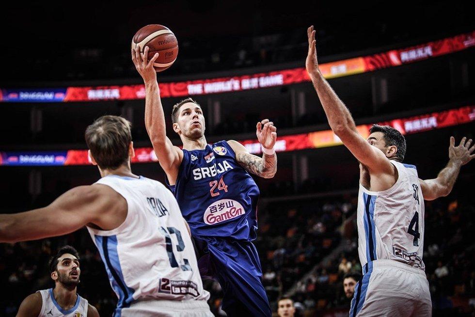 Rungtynių Argentina-Serbija akimirka (nuotr. FIBA)