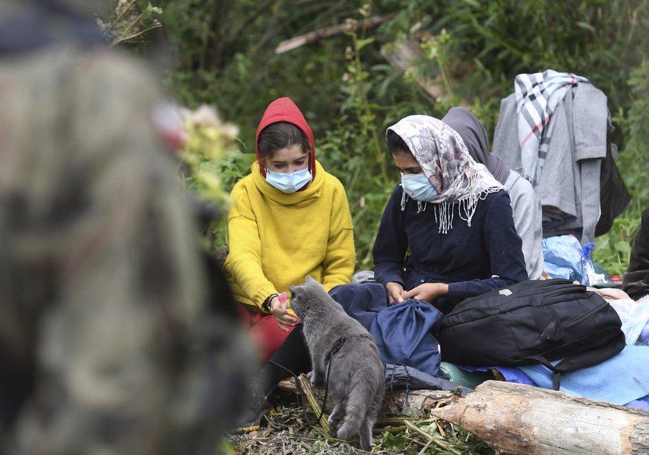 Įstrigę migrantai Lenkijos-Baltarusijos pasienyje