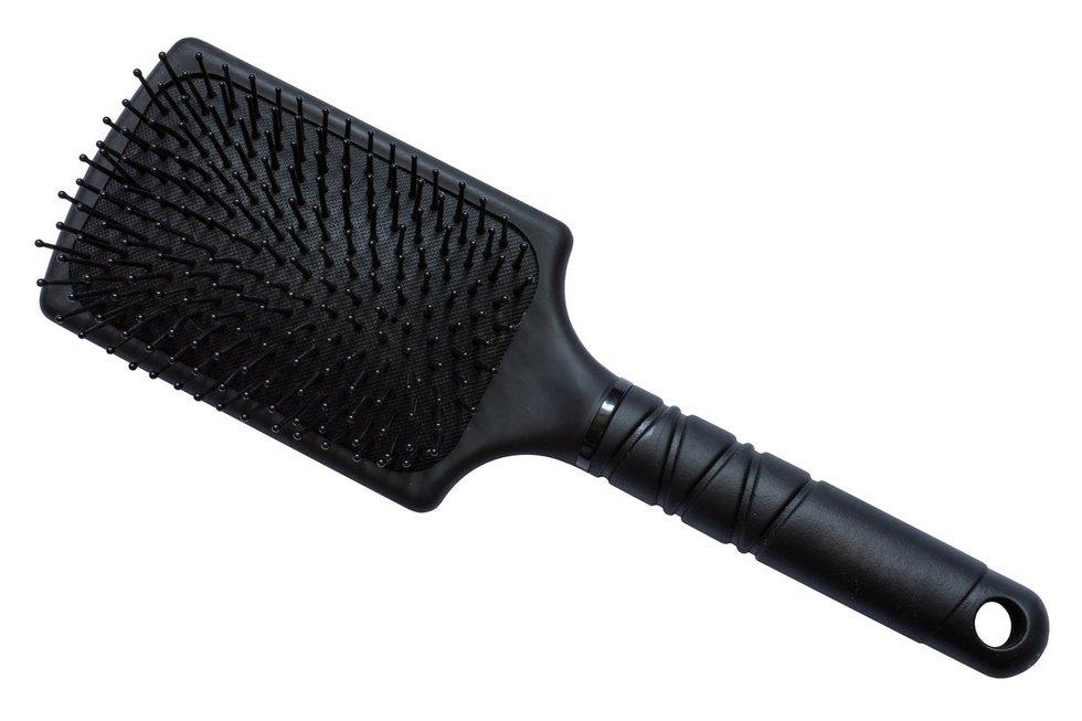 Šepetys ilgiems, storiems ir vidutinio storio plaukams - su nailono šereliais