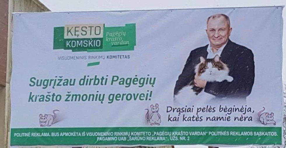 K. Komskio reklama (nuotr. facebook.com)