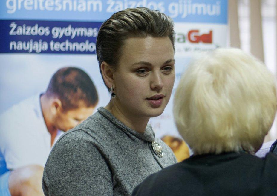 Gryta Šedžiuvienė dalyvauja renginiuose, skirtuose švietimui apie diabetą. (Nijolės Zenkevičiūtės nuotr.)