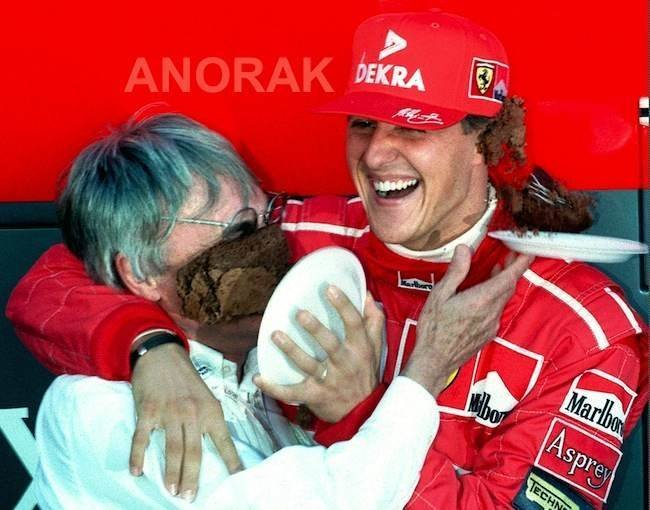 Michaelis Schumacheris ir Bernie Ecclestone'as (nuotr. SCANPIX)